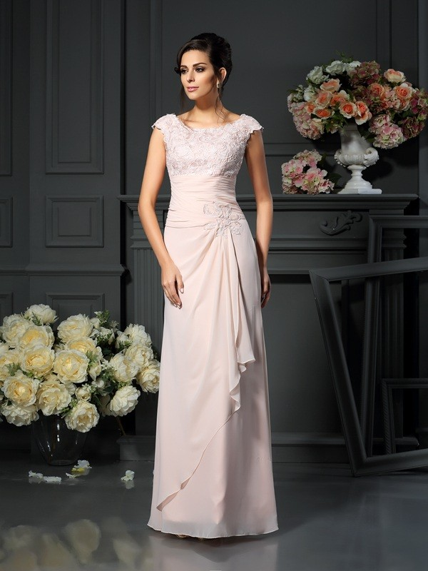 94aee2cd05 A-Line Princess Lace Scoop Sleeveless Chiffon Floor-Length Mother of the  Bride