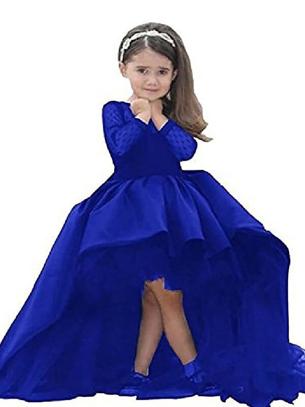 Ball Gown Scoop Satin Sash/Ribbon/Belt Long Sleeves Floor-Length ...