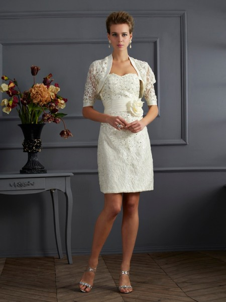 Lace Short Sleeves Special Occasion Wrap
