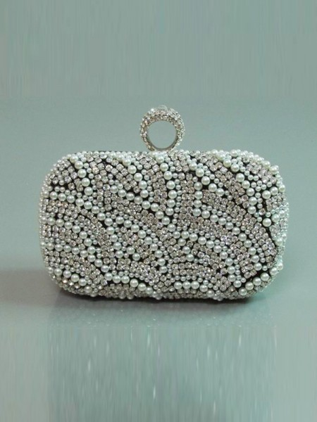 Pearls Rhinestones Evening Handbags