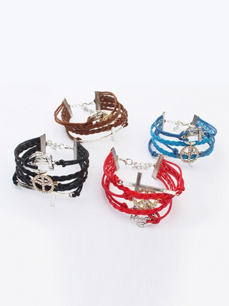 Occident Retro Anchor Cruciate woven Hot Sale Bracelets