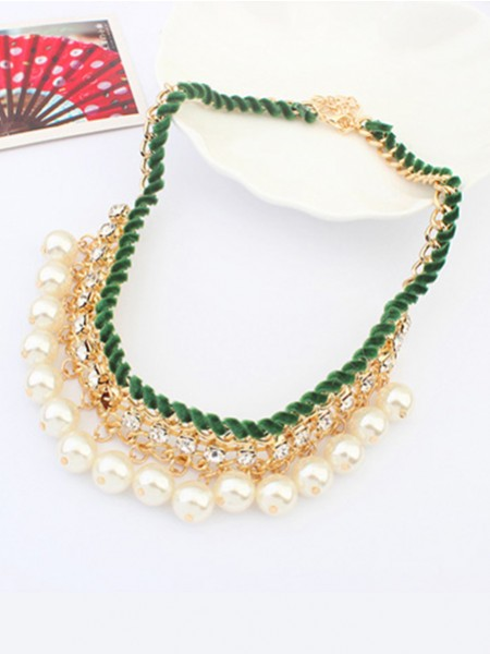 Occident all-match Pearls Temperament Hot Sale Necklace