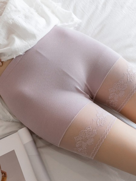 Sexy Women's Lace Seamless Elastic Safety Pants/Safety Shorts