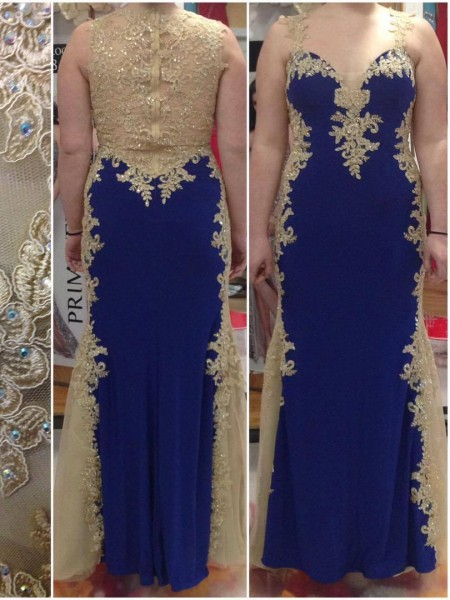 Sheath/Column Straps Applique Satin Floor-Length Elastic Woven Plus Size Dresses