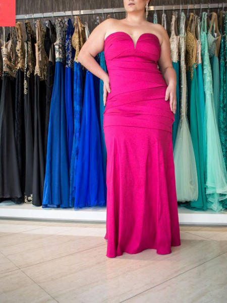 Trumpet/Mermaid Sweetheart Sleeveless Floor-Length Ruched Elastic Woven Satin Plus Size Dresses