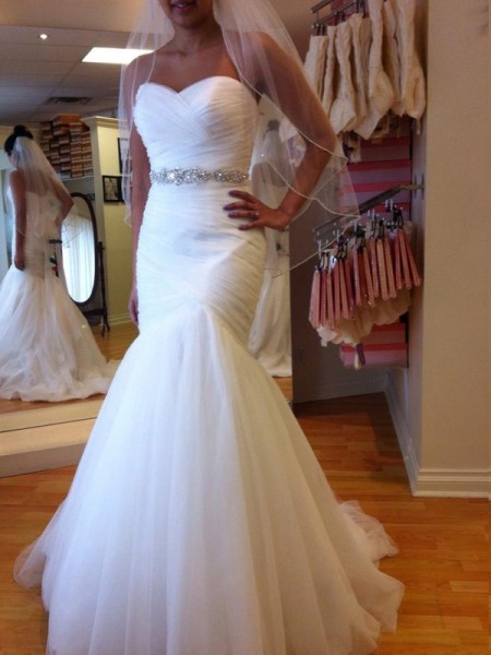 Trumpet/Mermaid Tulle Sleeveless Beading Court Train Wedding Dresses