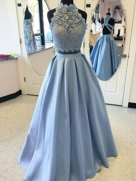 Ball Gown Satin Applique Sleeveless Floor-Length Dresses